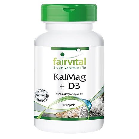KalMag plus D3 - GRANEL durante 3 meses - 90 cápsulas - magnesio calcio y vitamina
