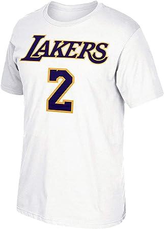 adidas Lonzo Bola los Angeles Lakers Camiseta Blanca Nombre y número: Amazon.es: Deportes y aire libre