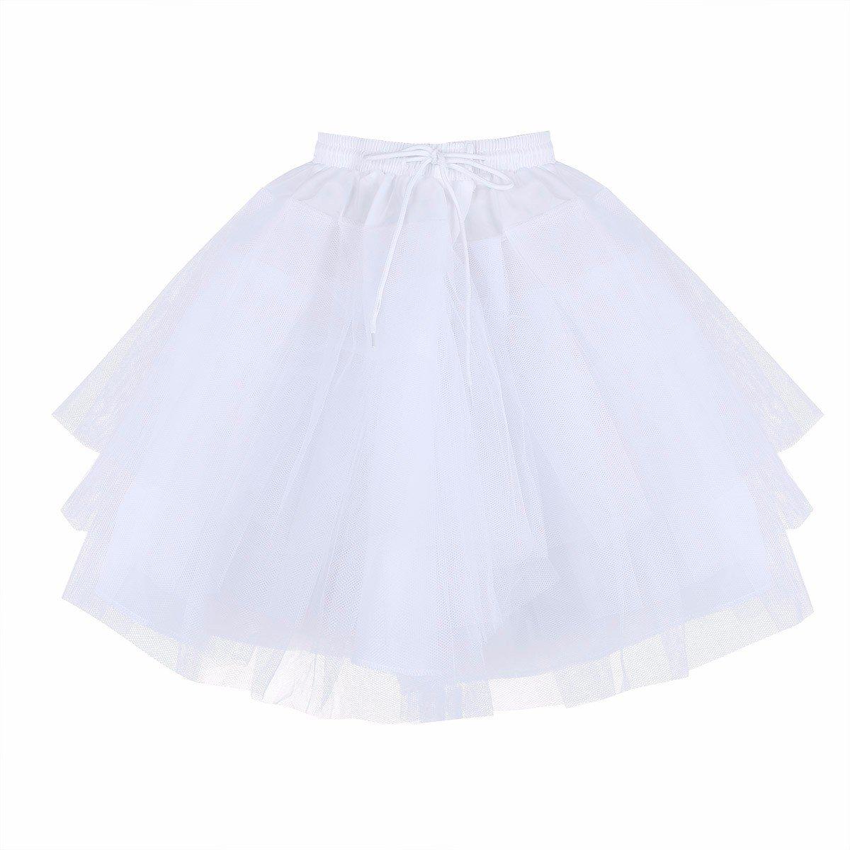 iEFiEL Kids Flower Girls' 3 Layers Wedding A-Line Dress Crinoline Petticoat Underskirt Slips