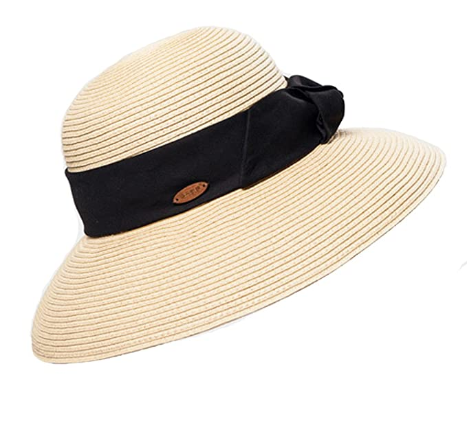 5e903b9569d Image Unavailable. Image not available for. Color  Lady Bucket Summer Sun  Hat Foldable Beach Cap Straw Hat Wide Brim Packable Women