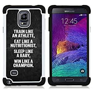 For Samsung Galaxy Note 4 SM-N910 N910 - athlete nutritionist champion poster Dual Layer caso de Shell HUELGA Impacto pata de cabra con im????genes gr????ficas Steam - Funny Shop -