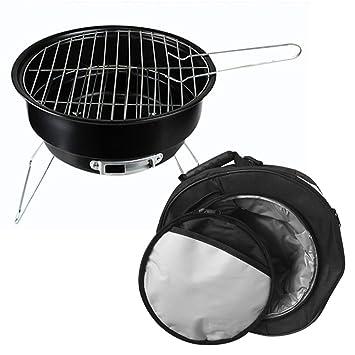 Nclon Carbón Barbacoa Barbacoa de carbón Ahumador,Mini Bbq Parrilla Portátil Plegable Ligero Senderismo Camping