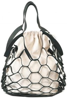 Women Bucket Bag Handbag Drawstring Messenger Hollow PU Leather Crossbody Bags