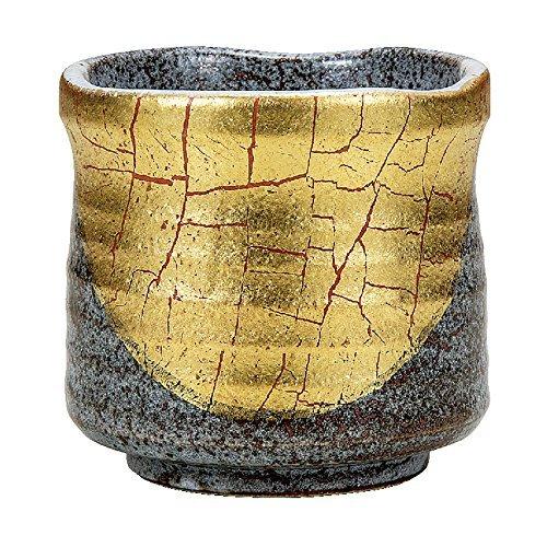 Kutani Yaki(Ware) Japanese Yunomi Tea Cup Gold Leaf