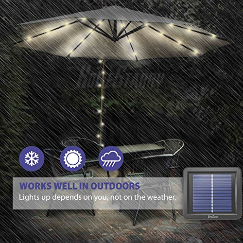 Homestarry 100ft 300LEDs Solar Powered Fairy Lights String Lights, 8 Modes Remote, Tangle-Free Decorative Rope Lights, IP65 Waterproof Solar Lights for Outdoor,Garden,Patio,Party,Christmas(Warm White) by Homestarry (Image #5)