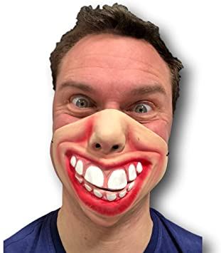 Half Face Comedy Funny Face Mask Fancy Latex Halloween Party Props Mask
