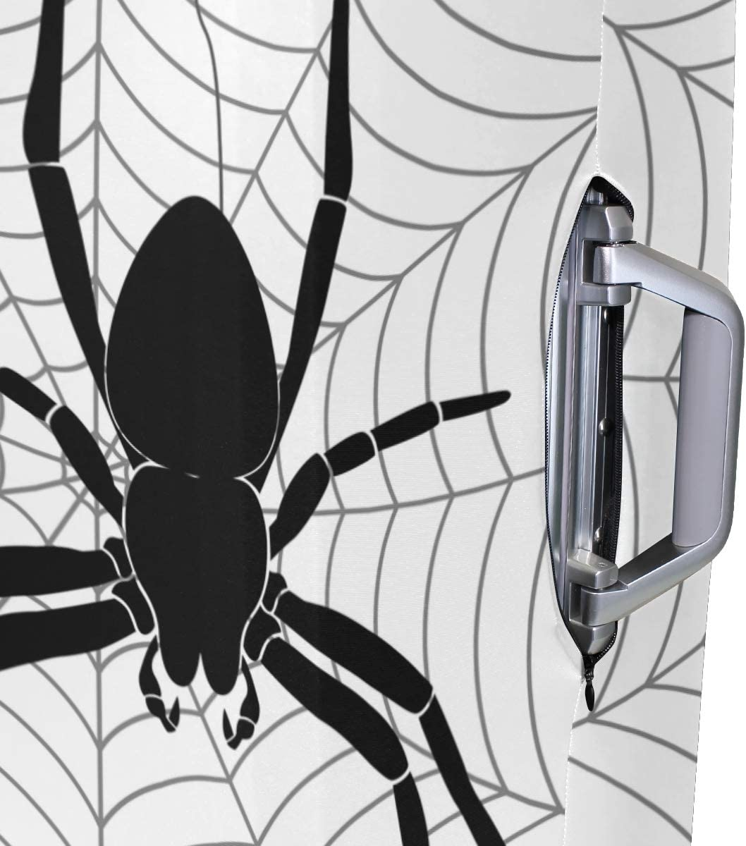 Nanmma Cute 3D Spider Pattern Luggage Protector Travel Luggage Cover Trolley Case Protective Cover Fits 18-32 Inch