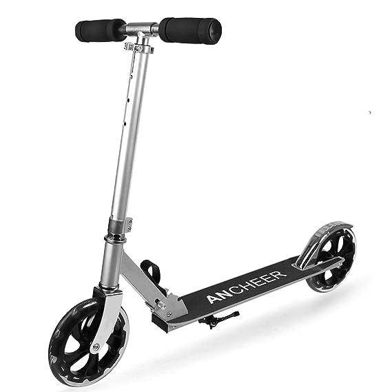 Lonlier Scooter Ajustable de Aleación de aluminio Patinete ...