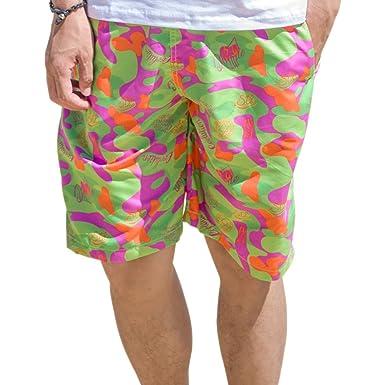 BOZEVON Summer Men and Women Cotton Short-Sleeved Quick Dry Beach Pants Swim  Shorts 7610a8ee6