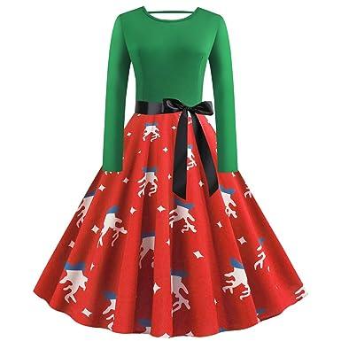 Shujin Vestido de Navidad para Mujer, Vintage, años 50, diseño ...