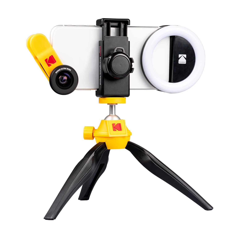 KODAK Smartphone Photography Kit   Ultra Wide + Macro + Portrait Light + Travel Case by KODAK