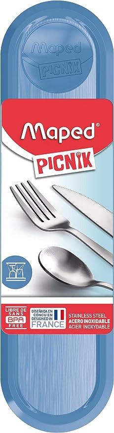 Maped 870403 Picnik Concept - Cubertería para adulto, color azul ...
