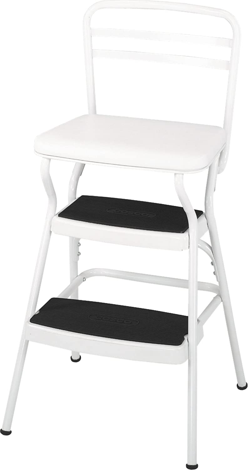 Cosco Black Retro Counter Chair/Step Stool 11120CBB1E