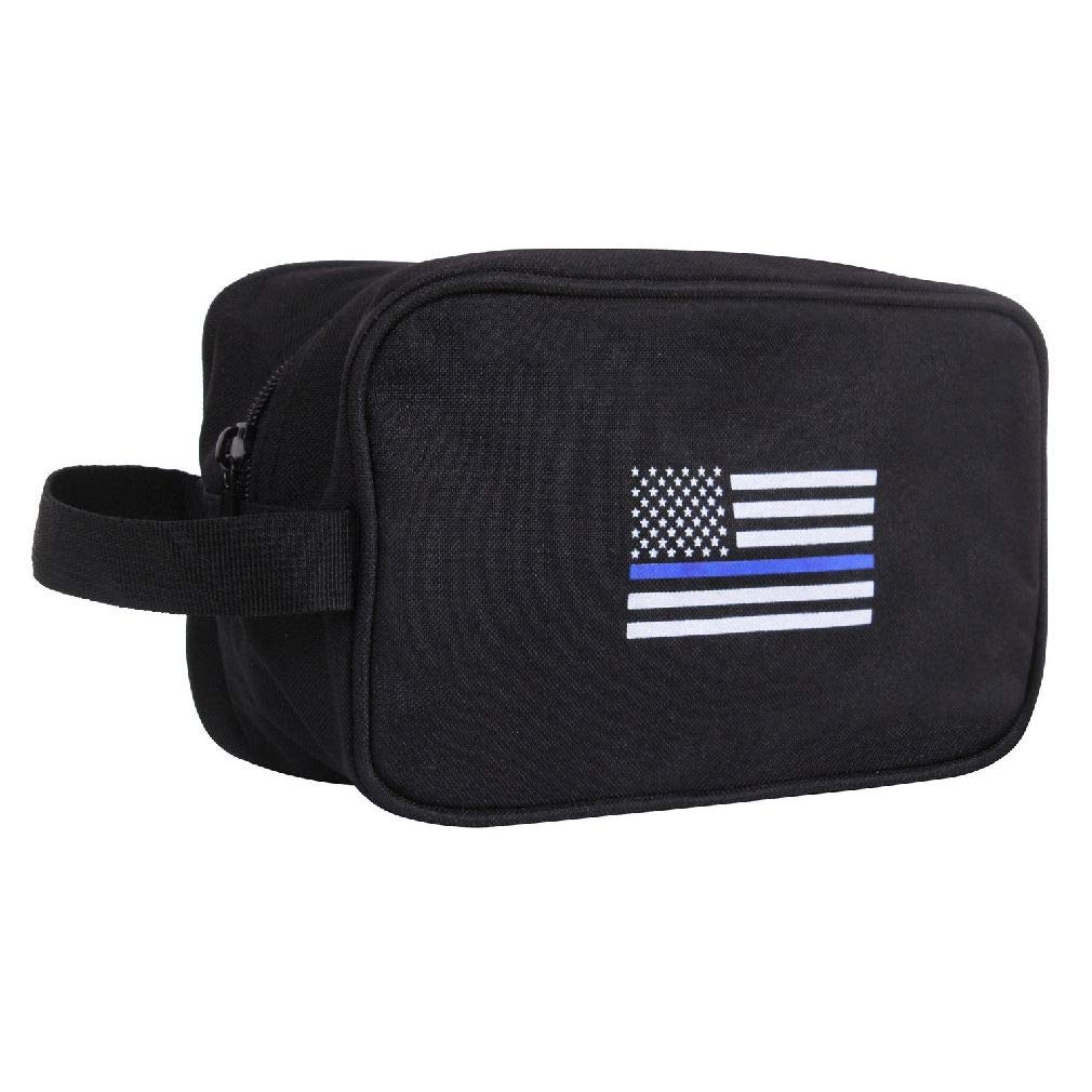 Thin Blue Line Travel Kit Toiletry Bag Support Law Enforcement by BlackC Sport (Image #1)