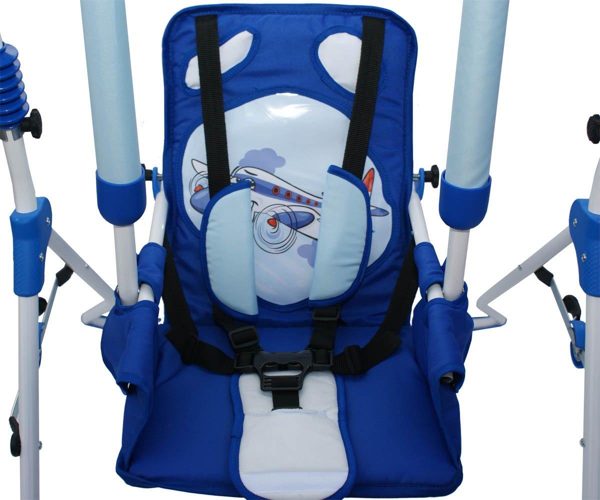 gepolsterter Sitz Clamaro 2 in 1 Babyschaukel SWING Indoor Baby Schaukel und Hochstuhl in einem kompakt zusammenklappbar Motiv: Pony Sicherheitsgurt mit B/ügel
