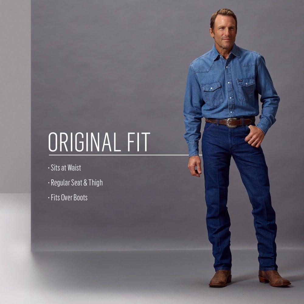 Wrangler Men's Original Fit Jean Straight Rough Stone