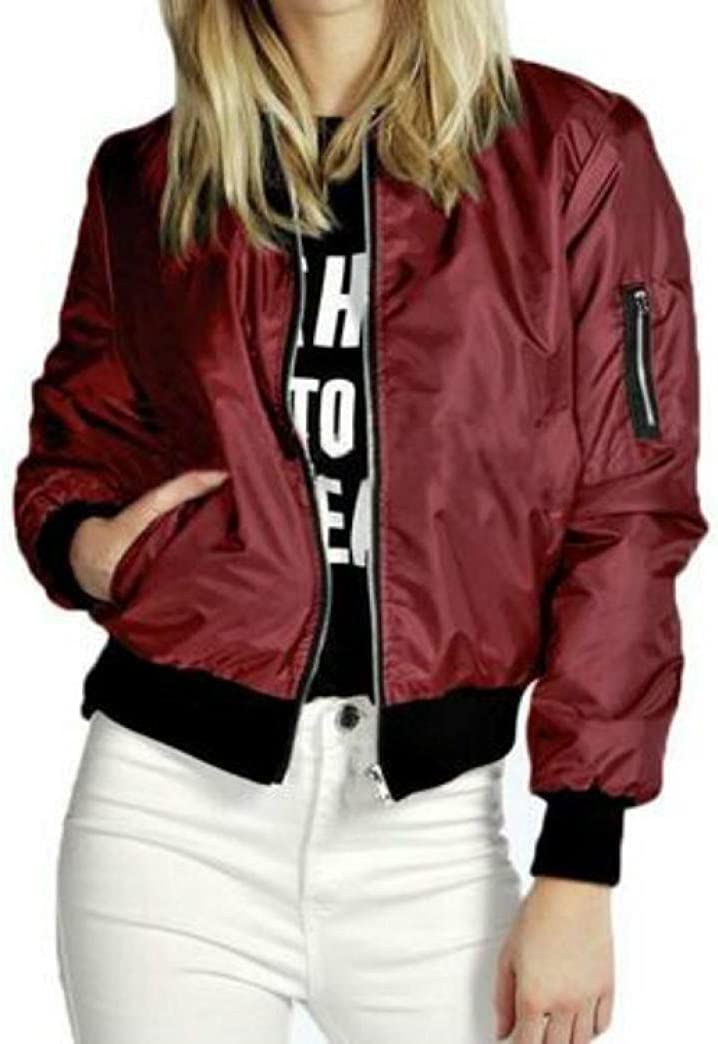 Creazy New Fashion Women Slim Biker Motorcycle Soft Zipper Short Coat Jacket XL