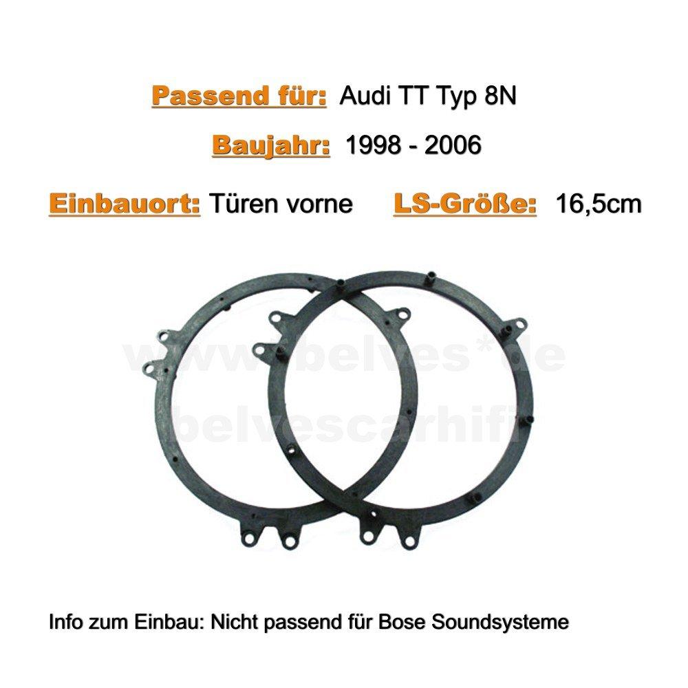 /2006/Puertas Delantero /Altavoz para Audi TT Tipo 8/N Bj 1998/ Crunch DSX 62/