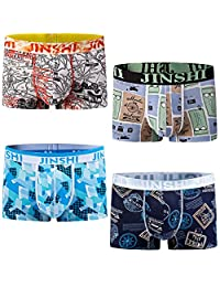 JINSHI Men's Underwear Soft Bamboo Boxer Briefs