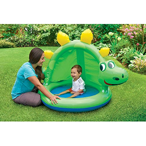 Play Day Dinosaur Inflatable Baby Pool with Sunshade (24 Hay Rack)