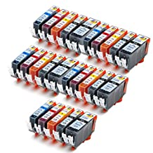 Ink & Toner Geek ® - 25 Pack Compatible Replacement Inkjet Cartridges for Canon PGI-225 Black & CLI-226 Black Cyan Magenta Yellow For Use With Canon PIXMA IP4820 PIXMA IX6520 PIXMA MG5120 PIXMA MG5220 PIXMA MG5320 PIXMA MG6120 PIXMA MG6220