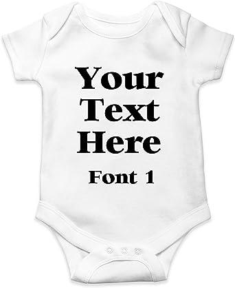 Personalised Baby Bodysuit Vest Name Girl Boy Shower Gift Christening Newborn