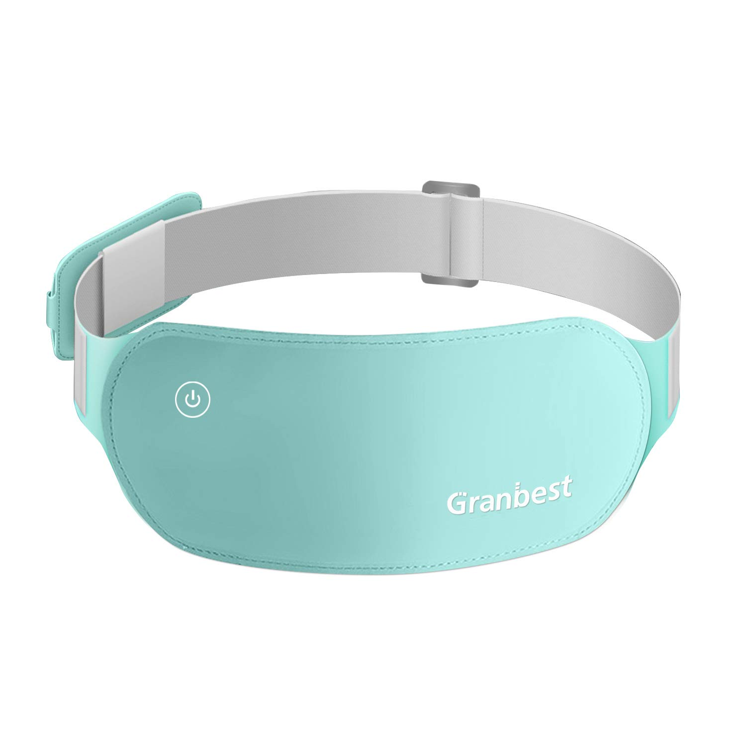 Granbest Portable Electric Heating Pad for Cramps, Lower Back Pain Relief USB Infrared Warming Waist Belt (Light Green) by Granbest