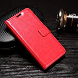SBM Retail Premium Wallet PU Leather Flip Cover Case For Samsung Galaxy Core Prime G355 (Red)