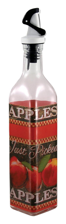 16 oz Grant Howard 50865 Cooking Oil Vinegar Olive Clear Container Glass Bottle Dispenser 16 Ounce Just Picked Apple Oil /& Vinegar Cruet