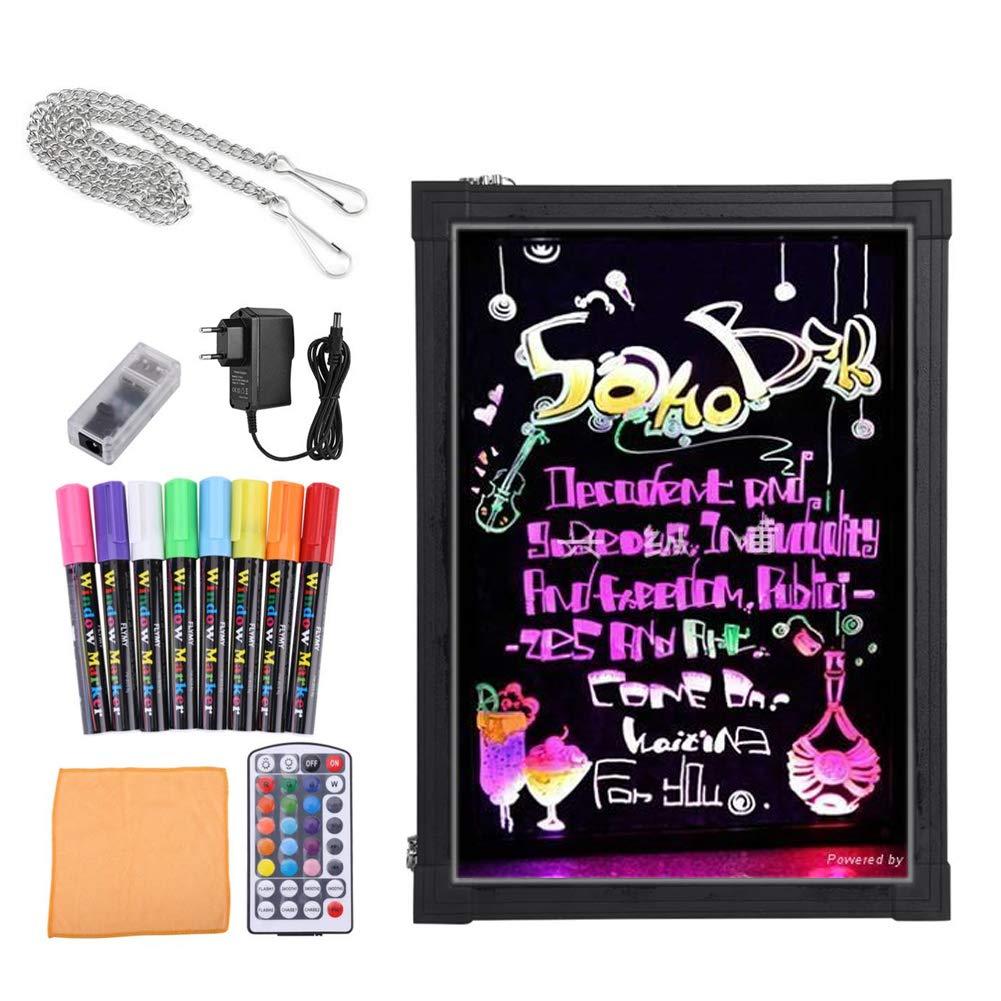 Bordo di scrittura del messaggio del LED,Lavagna Luminosa a Led Disegno Tavoletta LCD Writing Tablet LCD Drawing per pubblicità attività commerciali,con Telecomando, Ottima per Feste, Eventi, Vetrine (30x40cm) GOTOTOP