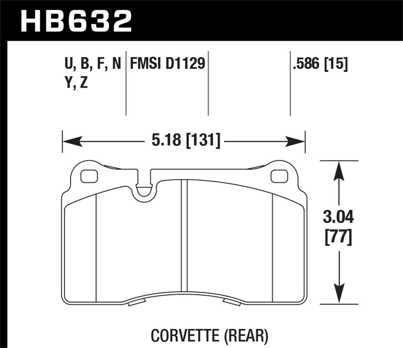 Hawk Performance HB632Z.586 Performance Ceramic Brake Pad