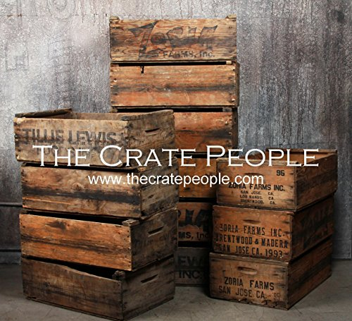Zoria Farm Vintage Wood Crates, Rustic Crates - Hundreds Available