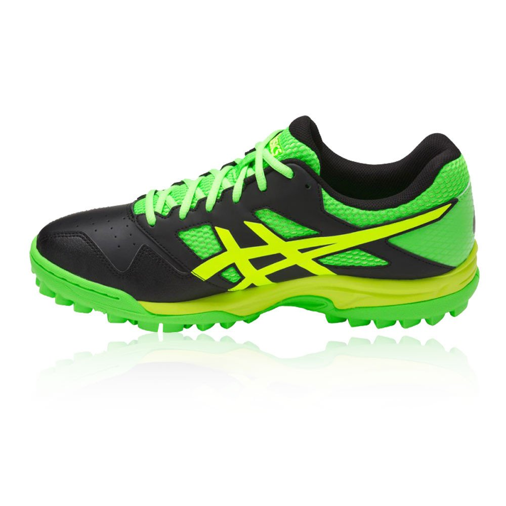 42565188f ASICS Men s Black Green Gecko Safety Yello Field Hockey Shoes-12 UK India  (48 EU) (13 US) (P616Y.9085)  Buy Online at Low Prices in India - Amazon.in