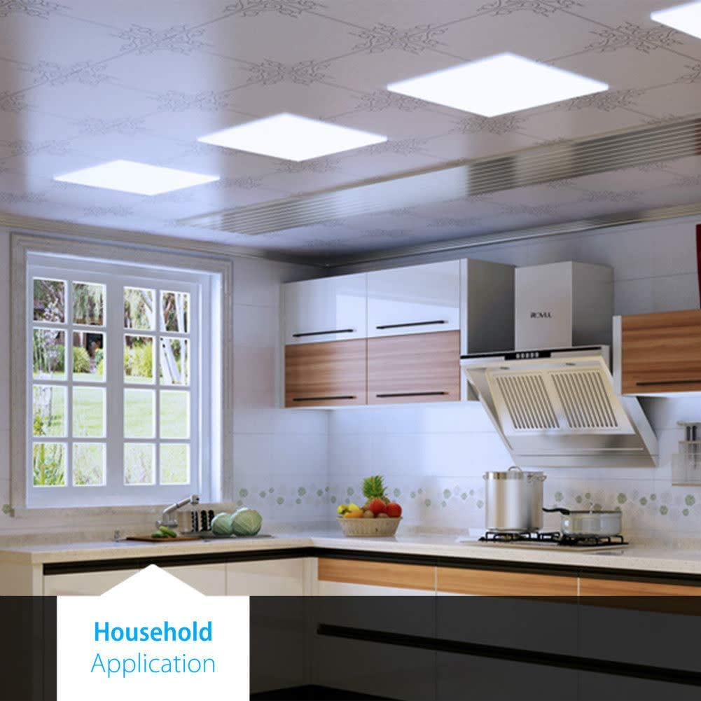 Worldwide Lighting FPL22-850-32W-130LW-UNV-DIM1-WH FPL Single Light 24 Wide Integrated LED Panel with Polycarbonate Diffuser Pack of 2