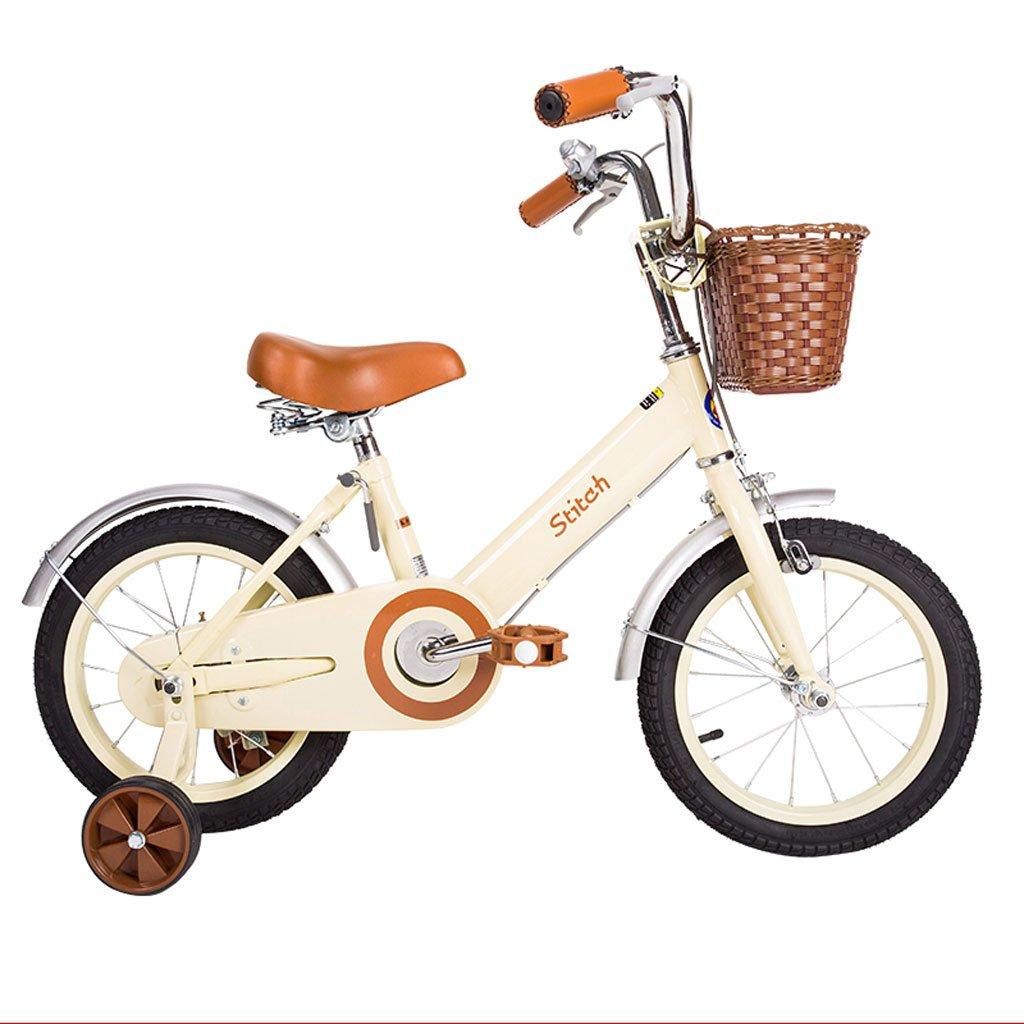 子供用自転車12/14/16/18インチガールバイク2-5/3-6/5-9/8-13歳ベビーキャリーハイカーボンスチール、ホワイト/ピンク (Color : 18 inch white) B07D299XGY