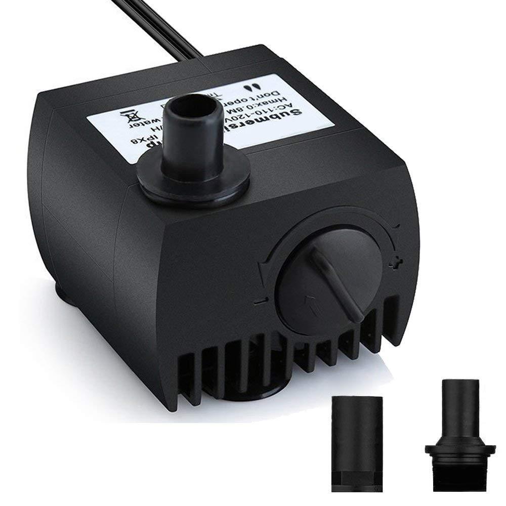 Silent Aqua Mini Submersible Pump Aquarium Pump Circulating Pump Filter Pump 4W 300L H