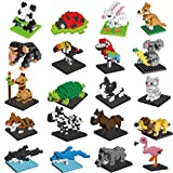 FlyHawk Animal Nanoblock Mini Building Blocks Zoo Set 20 Styles for Girls Boys Birthday Gift Party Favors Goodie Bags Kids Prizes