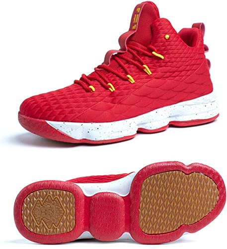 Zapatos Hombre Deporte de Baloncesto Sneakers de Malla para Correr ...