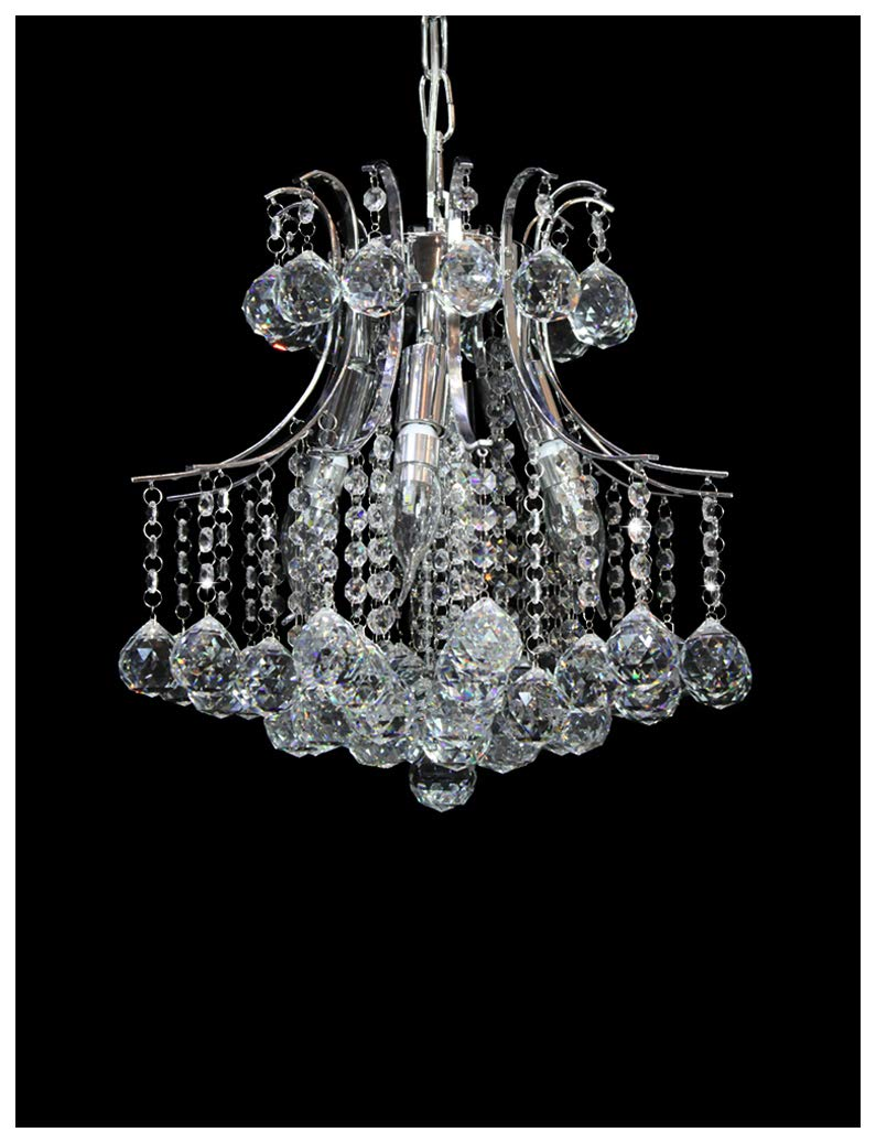 Dst Marie Therese 6 Arms Chandelier, Clear Geniune Crystal Glass Pendant Chandelier Ceiling Light for Dining Room, Bedroom, Living Room