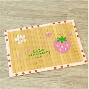 yaoyaoshop Pet Feeding Mats Dog Cooling Mat - Dog Ice Pad Ice Silk Cats Kennel Mat Pet Cooling Pad Summer Cool Bamboo Mat Breathable Pad Cooling Mat Pad for Dogs Pet Food Mat (Size : XL Size)