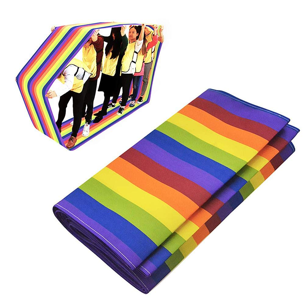 Kids Group Learning Activity Fun Playing Run Mat Training Games Rainbow Mat Teamwork Game Group Learning Activity Physical Education Equipment for Children and Adults