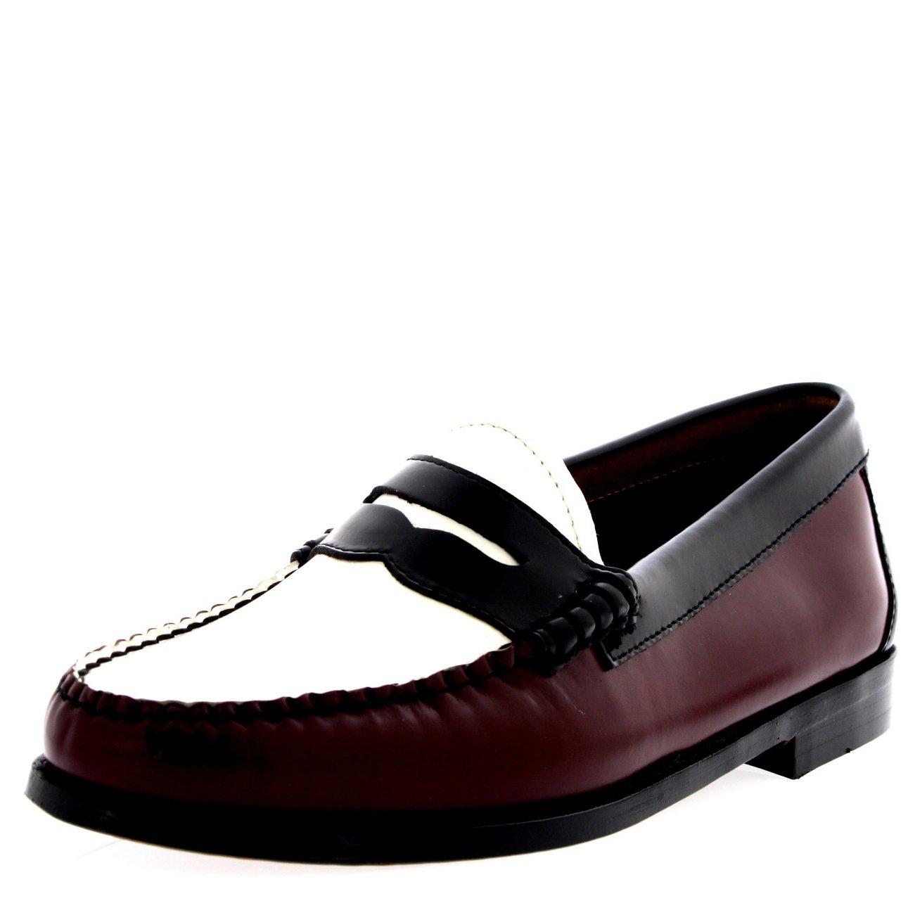 Damen Bordo G.H Bass Weejuns Penny Bordo Damen Leder Arbeit Formal Braun Büro Schuh af310b
