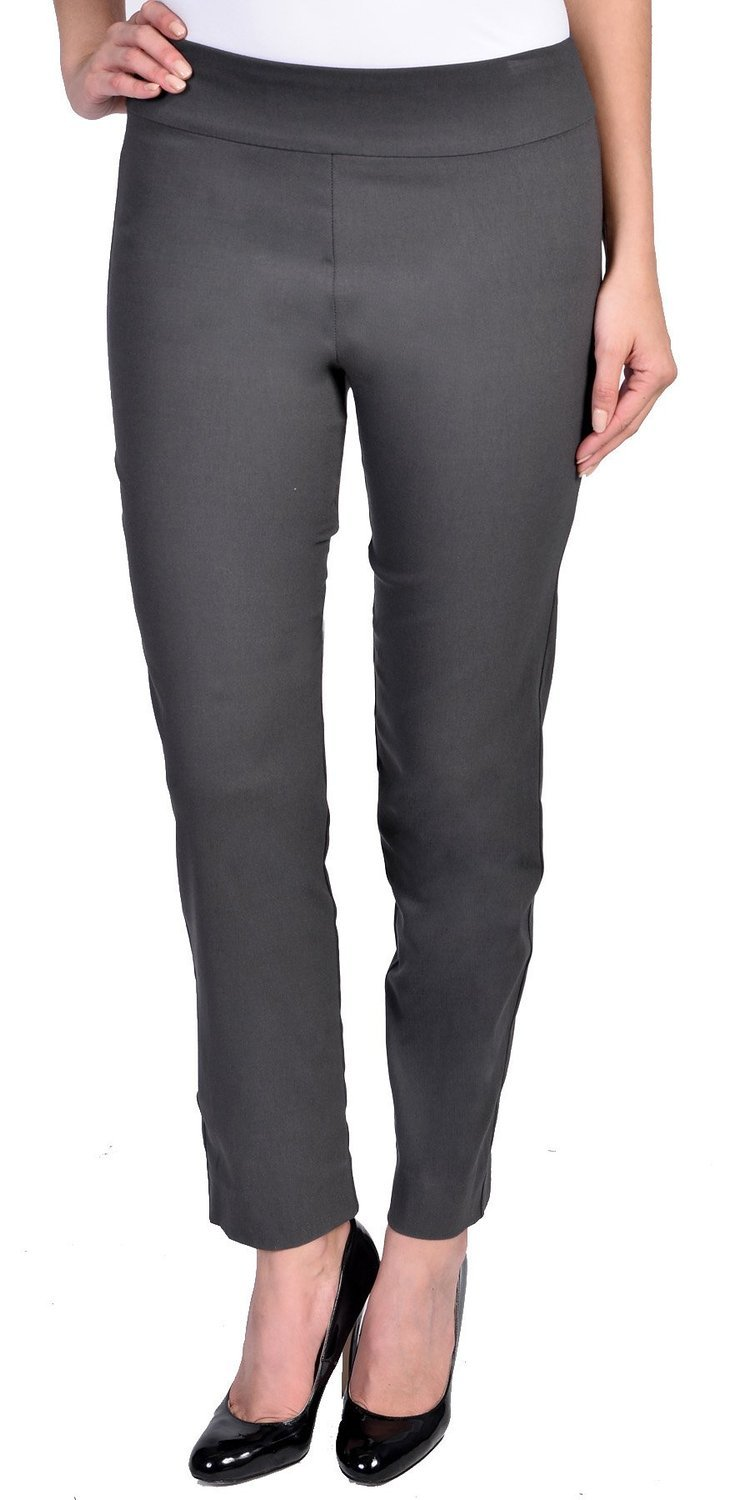 Krazy Larry Women's Pull on Ankle Pants Grey 4