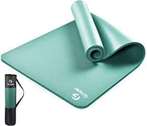 """Gruper Thick Yoga Mat Non Slip, Large Size 72"""" L x 32"""" W, Premium Exercise & Fitness Mat with Carrying Strap and Bag,Workout Mats for Home"""