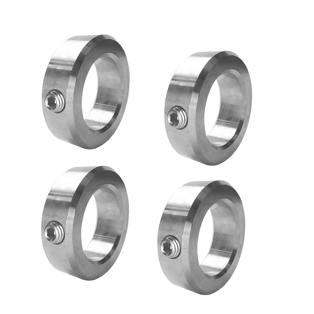 "3/8"" Bore Solid Steel Zinc Plated Shaft Collars Set Screw Style (4 PCS) 61wwPAtctML"