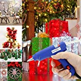efluky Mini Hot Melt Glue Gun with 20pcs Glue Sticks High Temperature Melting Glue Gun Kit Flexible Trigger for DIY Small Craft Projects&Sealing and Quick Repairs(20-watt, Blue)