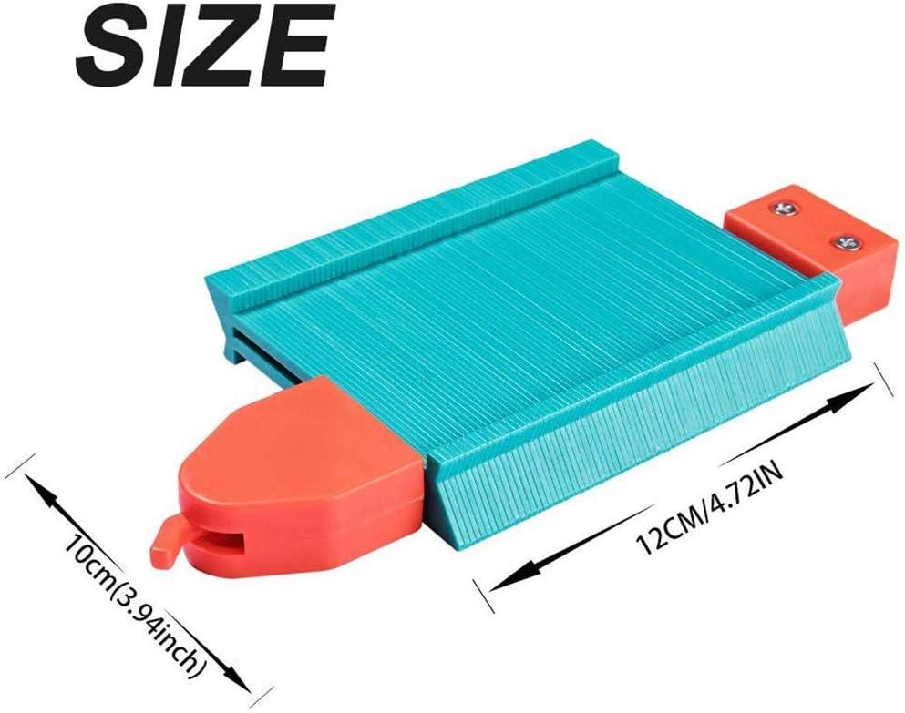 Saker/® Jauge de duplication de contour R/ègle de mesure irr/éguli/ère pour tuyaux denroulement et de nombreux objets Outil multifonction en plastique