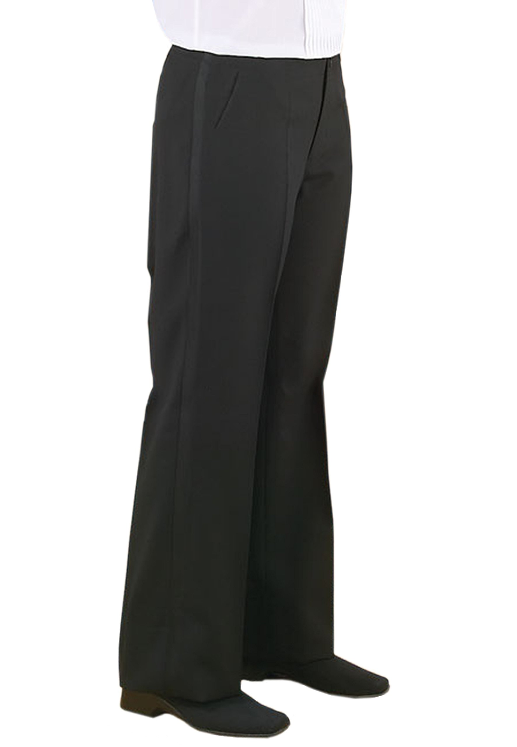 Neil Allyn Black plain front tuxedo stripe trouser for women - 8
