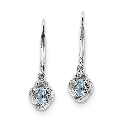 Sterling Silver Gemstone & Birthstone Leverback Dangle Earrings for Women Fine Jewelry Gifts xnMMQ