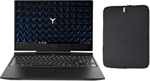"Lenovo Legion Y545 15.6"" FHD Gaming Laptop Bundle with WOOV Accessory, Intel 6-Core i7-9750H, 32GB RAM, 256GB PCIe SSD Boot + 2TB HDD, NVIDIA GTX 1660Ti 6GB, Backlit Keyboard, Windows 10"